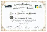 Certificado De Título De Especialista Em Psiquiatria - Decio Deforme